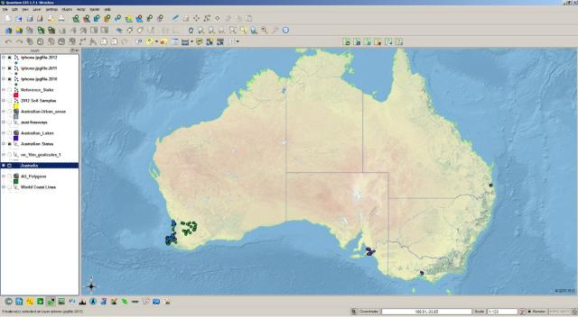 QGIS iPhone Photograph Example
